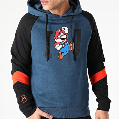 Super Mario - Sweat Capuche Mario Bleu Marine Noir