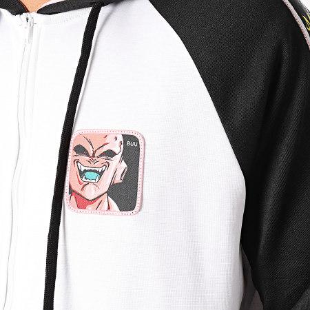 Dragon Ball Z - Sweat Zippé Capuche A Bandes Buu Blanc Noir