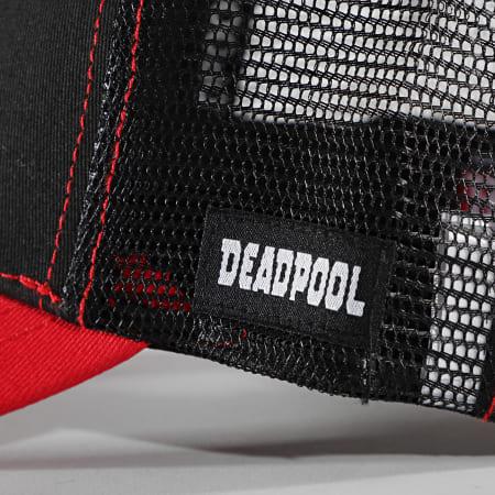 Deadpool - Casquette Trucker Crest Noir Rouge
