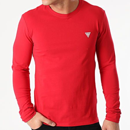 Guess - Tee Shirt Manches Longues M1RI28-J1311 Rouge