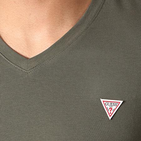 Guess - Tee Shirt Col V M1RI32-J1311 Vert Kaki