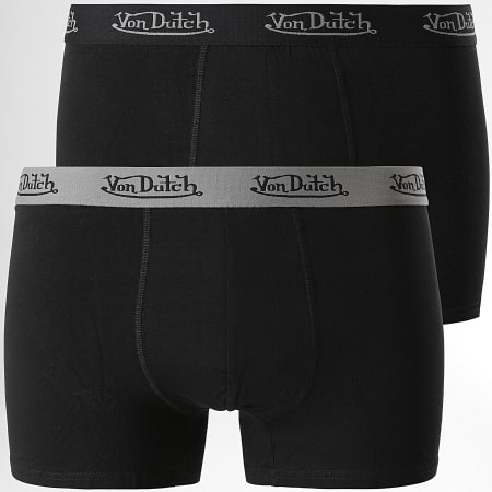 Von Dutch - Lot De 2 Boxers Basic Noir