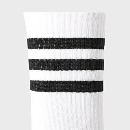 adidas - Lot De 3 Chaussettes 3 Stripes Cushioned DZ9346 Blanc