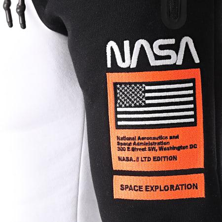 Final Club x NASA - Pantalon Jogging Half Limited Edition Noir Blanc Détails Orange Fluo