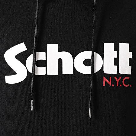 Schott NYC - Sweat Capuche SWHOOD Noir