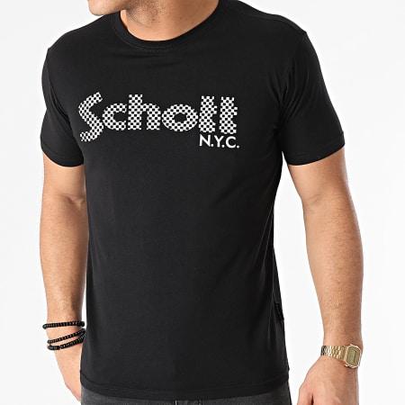 Schott NYC - Tee Shirt Racing TSLOGO Noir