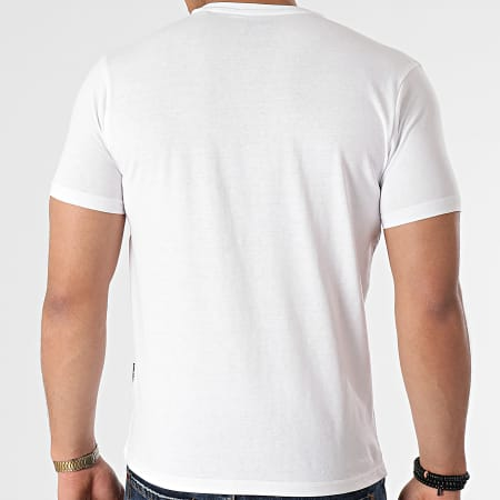 Schott NYC - Tee Shirt TSLOGO Blanc