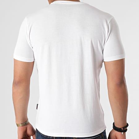 Schott NYC - Tee Shirt Camouflage TSLOGO Blanc