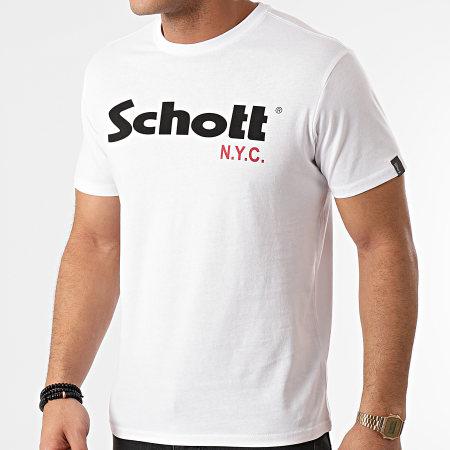 Schott NYC - Lot De 2 Tee Shirts TS01MCLOGO Blanc Noir