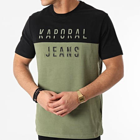 Kaporal - Tee Shirt Tonio Vert Kaki Noir