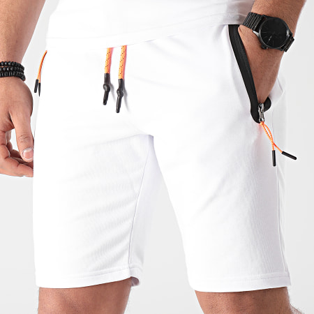 LBO - Short Jogging Zip Tech 1111 Blanc