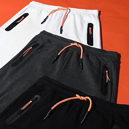 LBO - Short Jogging Zip Tech 1485 Gris Anthracite
