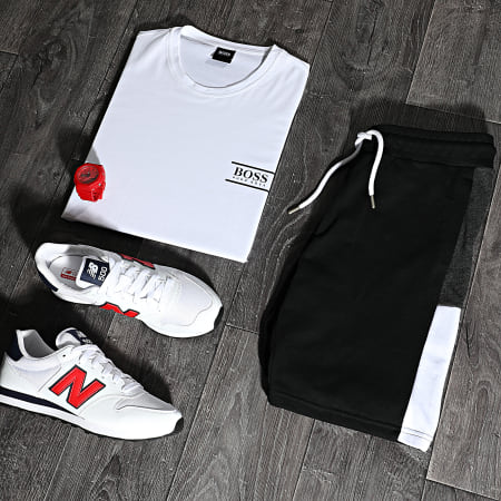 LBO - Short Jogging Bande Bicolore 1487 Noir