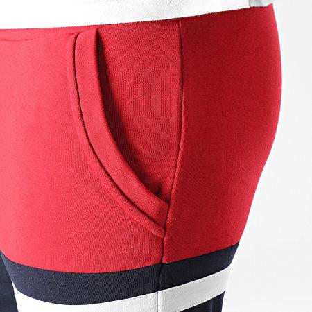 LBO - Short Jogging Tricolore 1507 Rouge Bleu Marine