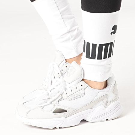 Puma - Legging Femme Essential Colorblock 587913 Noir Blanc