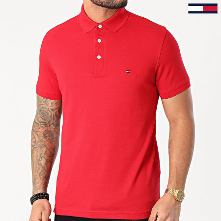 Tommy Hilfiger - Polo Slim Manches Courtes 1985 7771 Rouge