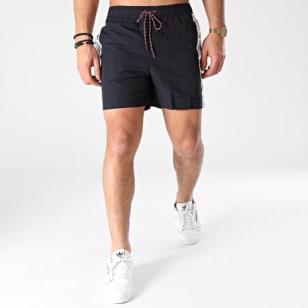Tommy Jeans - Short De Bain A Bande Medium Drawstring 2042 Bleu Marine