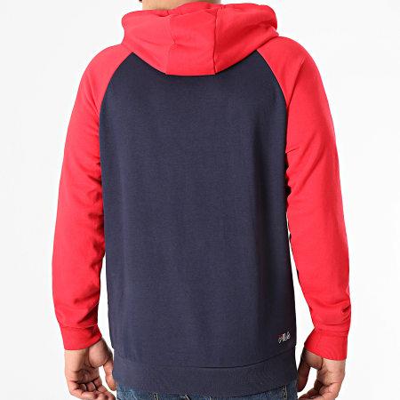 Fila - Sweat Capuche Jalon 683261 Bleu Marine Rouge