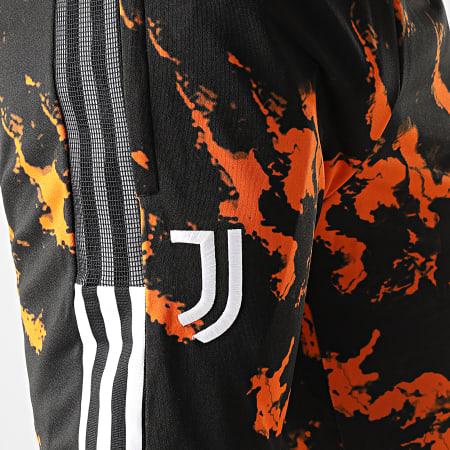 adidas - Pantalon Jogging A Bandes Juventus AOP GK8602 Noir Orange