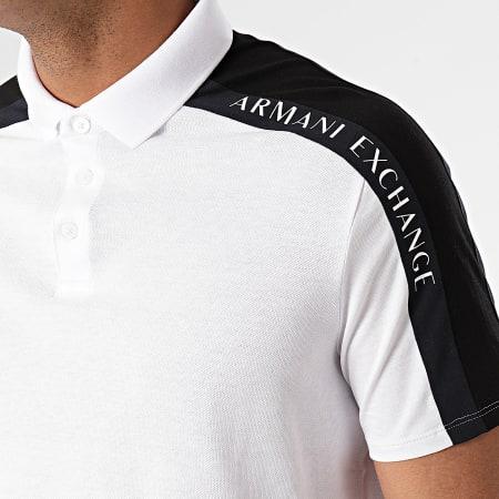 Armani Exchange - Polo Manches Courtes A Bandes 3KZFFW-ZJM5Z Blanc