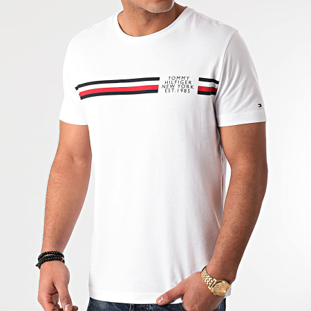 Tommy Hilfiger - Tee Shirt Corp Split 6592 Blanc