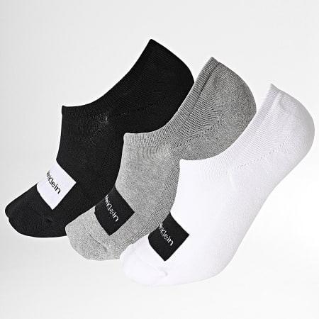 Calvin Klein - Lot De 3 Paires De Chaussettes 10001776 Noir Blanc Gris Chiné