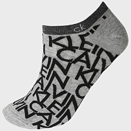Calvin Klein - Lot De 2 Paires De Socquettes 100001845 Gris Chiné