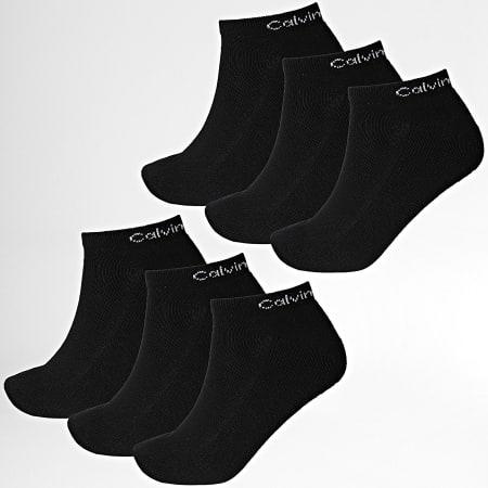 Calvin Klein - Lot De 6 Paires De Socquettes 100003123 Noir