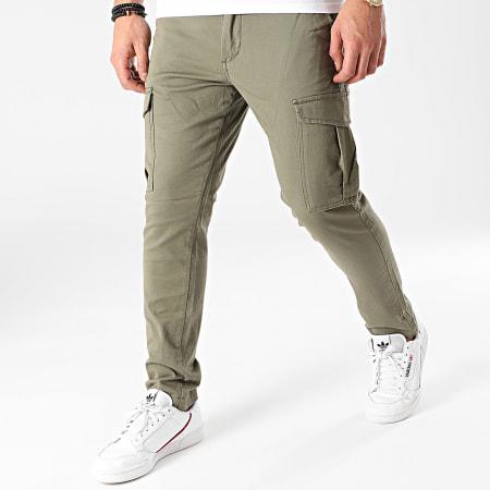 Jack And Jones - Pantalon Cargo Marco Joe Vert Kaki