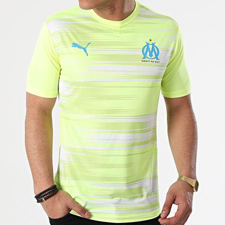 Puma - Tee Shirt OM Stadium Jersey 758119 Jaune Fluo