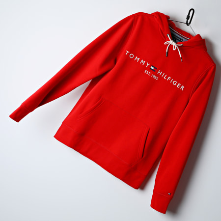 Tommy Hilfiger - Sweat Capuche Tommy Logo 1599 Rouge