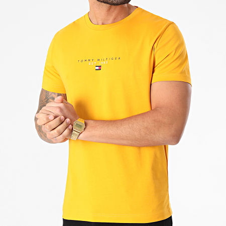 Tommy Hilfiger - Tee Shirt Essential Tommy 7676 Jaune Moutarde