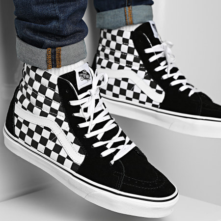 Vans - Baskets Sk8 Hi 32QGHRK Checkerboard Black True White