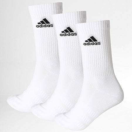 adidas - Lot De 3 Paires De Chaussettes Cush Crew DZ9356 Blanc