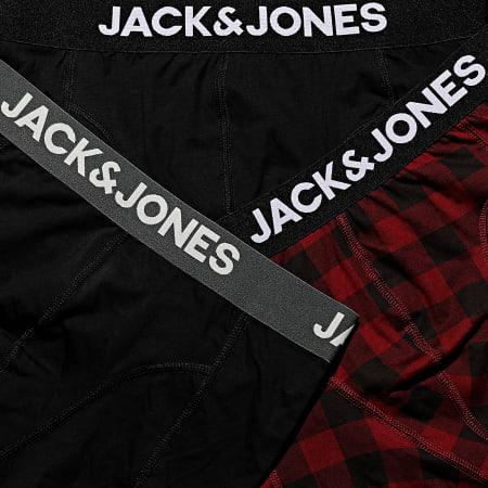 Jack And Jones - Lot De 3 Boxers Monty Noir Bordeaux