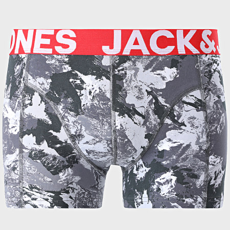 Jack And Jones - Lot De 3 Boxers Core Camo Gris Bleu Roi Orange Camouflage