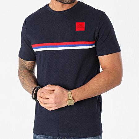 Kappa - Tee Shirt Bisso 311B2JW Bleu Marine