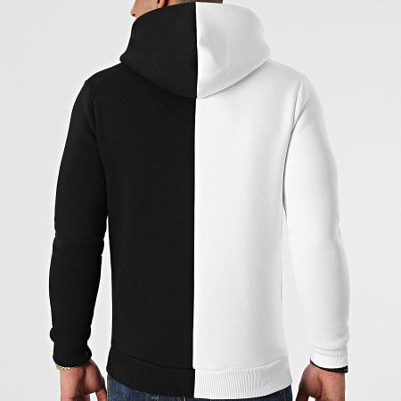 LBO - Sweat Capuche Bicolore 1479 Noir Blanc
