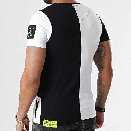 Final Club x Parental Advisory - Tee Shirt Illicit Edition Noir Blanc Détails Jaune Fluo