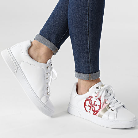 Guess - Baskets Femme FL5RTAELE12 White White