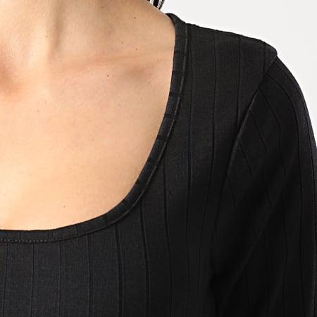 Brave Soul - Robe Manches Longues Femme Lotte Noir