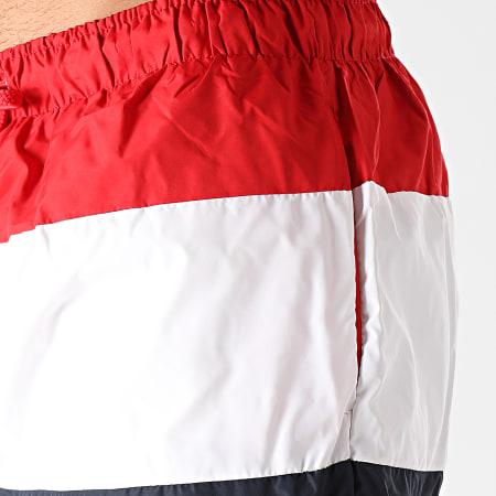 Brave Soul - Short De Bain Tricolore Massena Bleu Marine Blanc Rouge