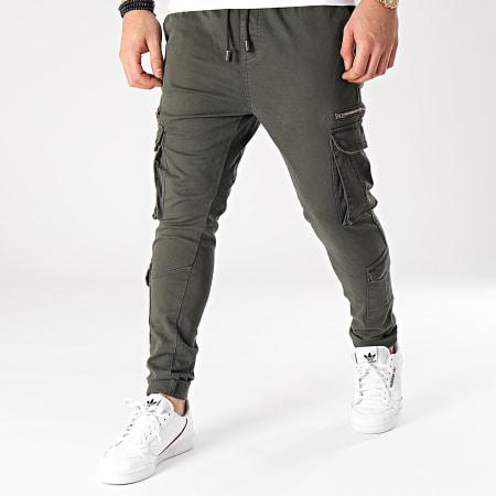 Brave Soul - Pantalon Cargo Askern Vert Kaki