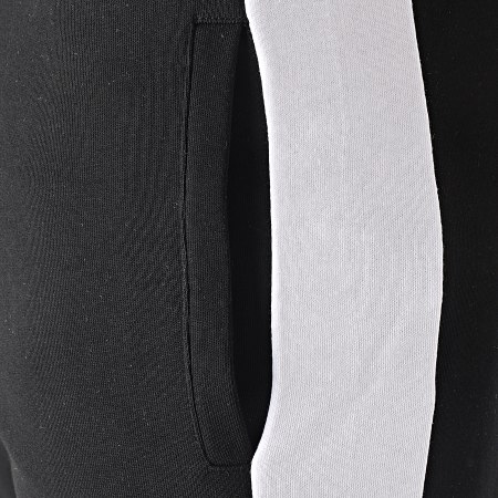 LBO - Short Jogging Avec Bandes Blanc 1496 Noir