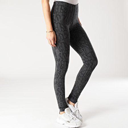Noisy May - Legging Femme Kerry Anilla Gris Anthracite Serpent