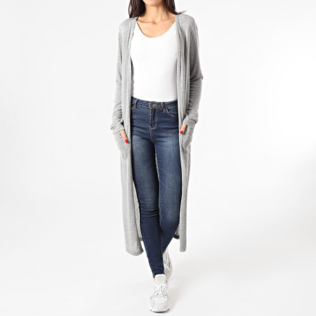 Noisy May - Cardigan Femme Molly Gris Chiné