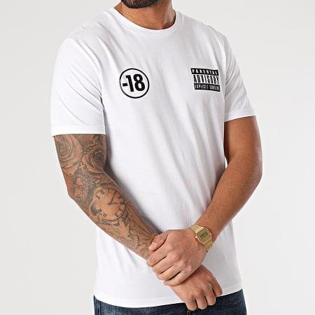Parental Advisory - Tee Shirt Pegi 18 Blanc