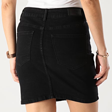 Vero Moda - Jupe Jean Femme Hot Seven Noir