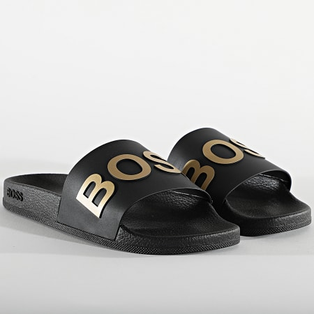 BOSS By Hugo Boss - Claquettes Bay Slide 50425152 Black