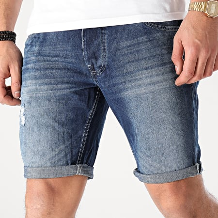 Brave Soul - Short Jean Wills Bleu Denim